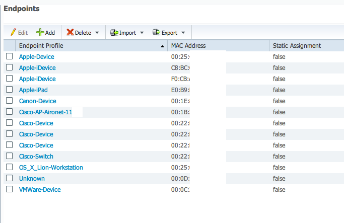 shot11 Cisco Identity Services Engine ISE 1.1 Profiling   Identify And Monitor What Is On Your Network