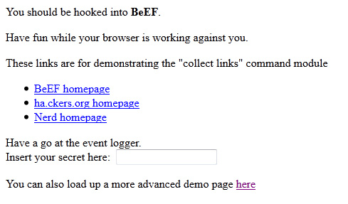BeEF7 Cool Tool: BeEF   Browser Exploitation Framework On BackTrack 5