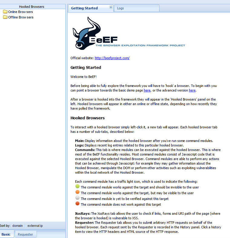 BeEF 2 Cool Tool: BeEF   Browser Exploitation Framework On BackTrack 5