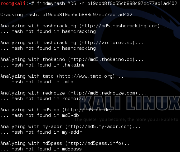 FindMyHashKali How Hackers Crack Weak Passwords