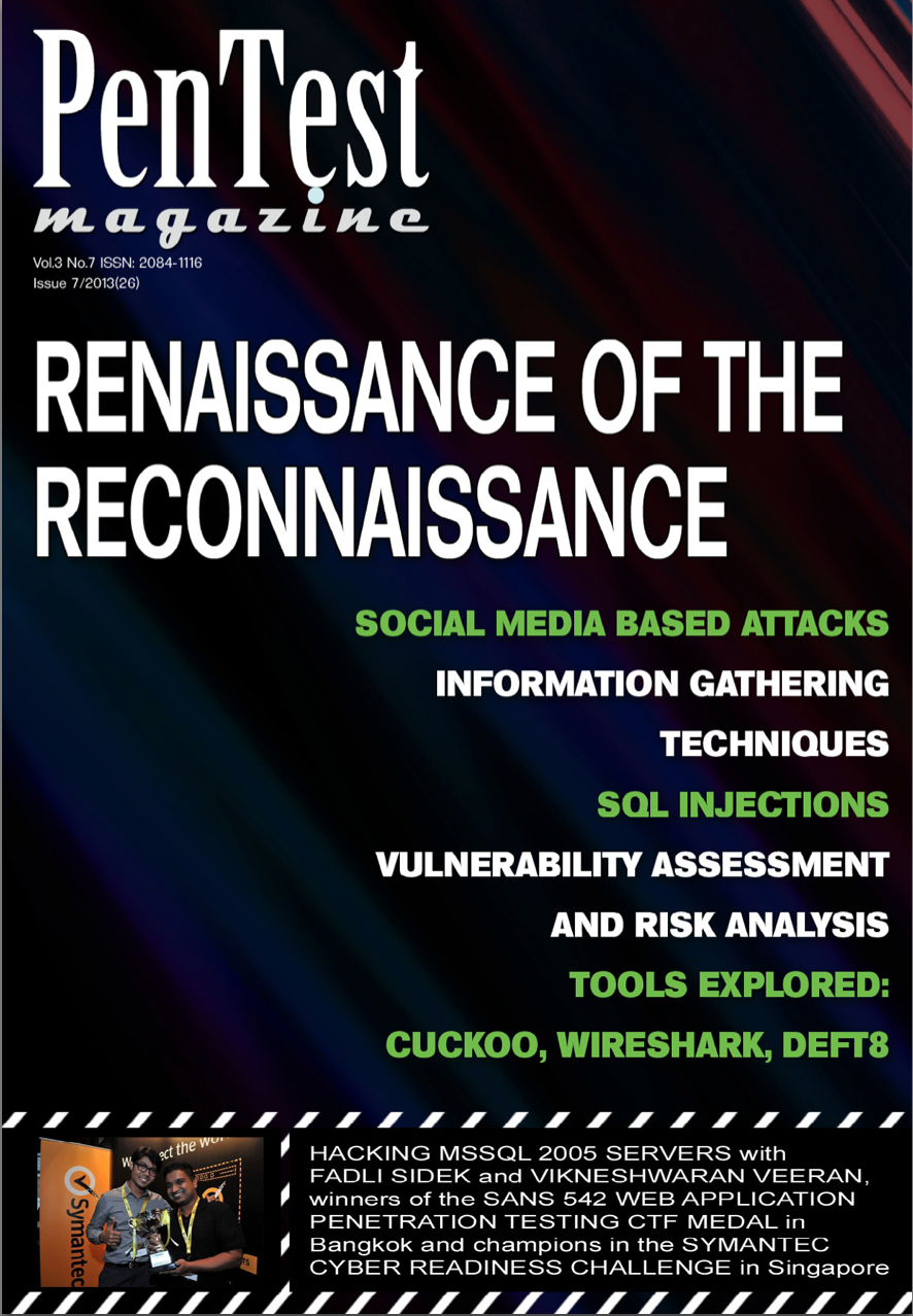 PenTestCover Article publish in PenTest magazine   Launching Social Media Based Attacks