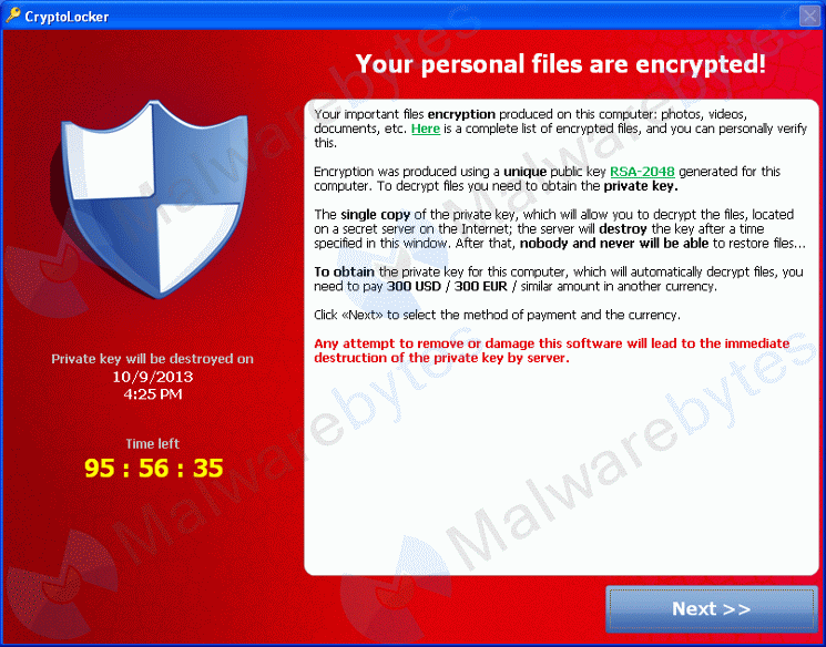 cryptolocker Days After a Federal Seizure, Another Type of Ransomware Gains Ground
