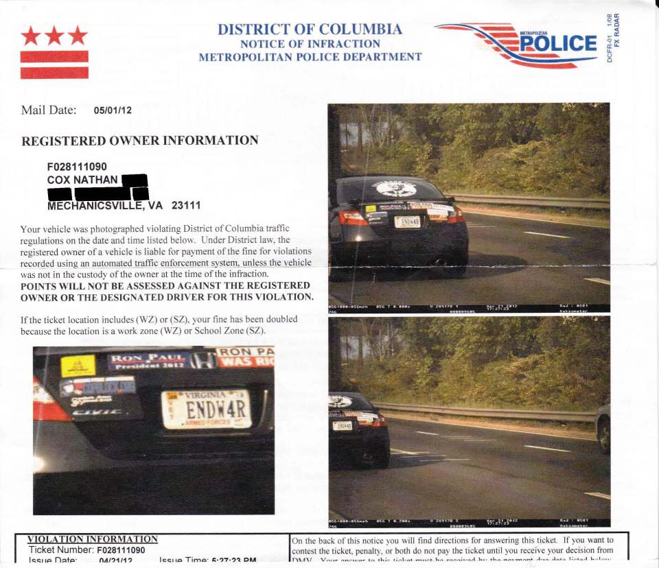 How Much Is A Red Light Ticket >> How To Beat A Red Light Camera The Security Blogger