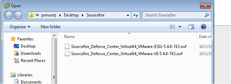 Installing Cisco Sourcefire FireSIGHT / Defense Center on