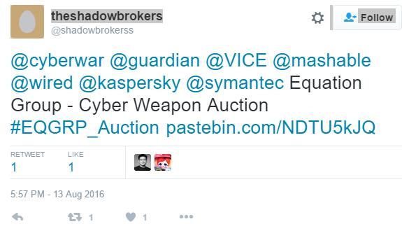 ShadowBrokersTweet
